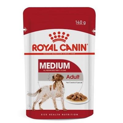 Ração Úmida Sachê Royal Canin Médium Adult para Cachorros Adultos de Raças Médias 140g