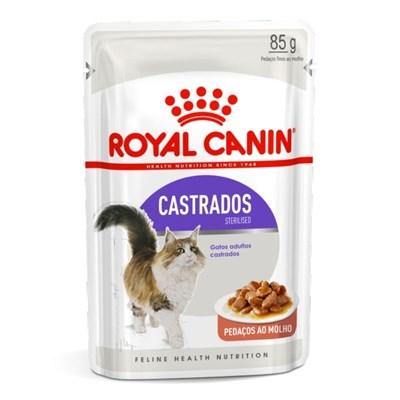 Ração Úmida Sachê Royal Canin Sterilised para Gatos Adultos Castrados 85kg