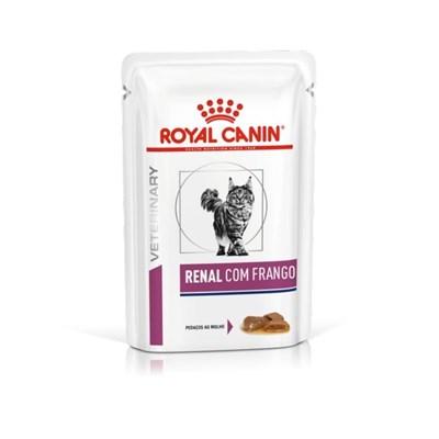 Ração Úmida Sachê Royal Canin Veterinary Diet Renal para gatos com frango 85g
