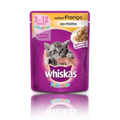 Ração Úmida Sachê Whiskas para gatos filhotes frango 85gr