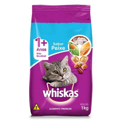 Ração Whiskas para Gatos Adultos Peixe 1kg
