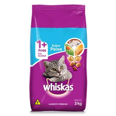 Ração Whiskas para Gatos Adultos Peixe 3kg