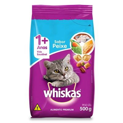 Ração Whiskas para Gatos Adultos Peixe 500gr