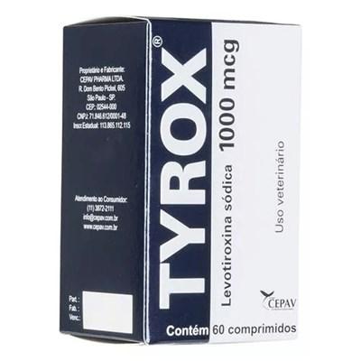 Reposição Hormonal Tyrox para Cães 1000mg