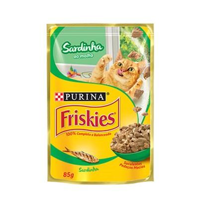 Sachê Friskies para Gatos Adultos Sardinha 85gr