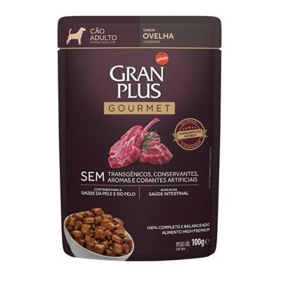 Sachê Granplus Gourmet para Cães Adultos Ovelha 100gr