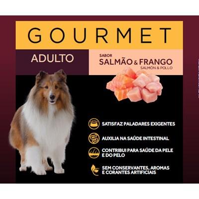 Sachê Granplus Gourmet para Cães Adultos Salmão e Frango 100gr