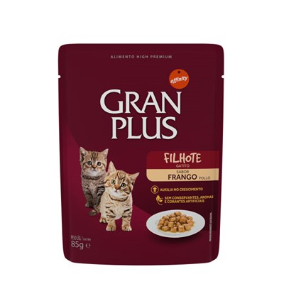 Sachê GranPlus Menu gatos filhotes frango 85gr
