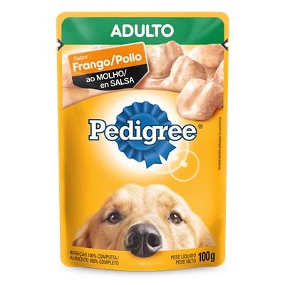 Sachê Pedigree para Cães Adultos de Raças Médias  Grandes Frango ao Molho 100gr
