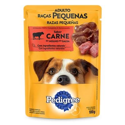 Sachê Pedigree para Cães Adultos de Raças Pequenas Carne ao Molho 100gr