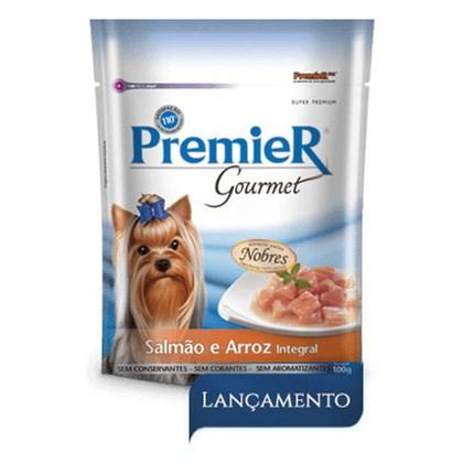 Sachê Premier Gourmet para Cães Adultos Salmão Arroz 100gr