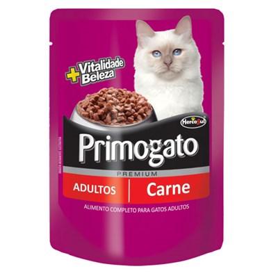 Sachê Primogato Adulto Carne 85gr