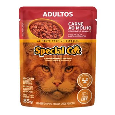 Sachê Special Cat para Gatos Adultos Carne 85gr