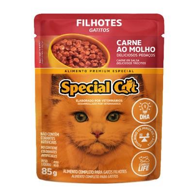 Sachê Special Cat para Gatos Filhotes Carne 85gr
