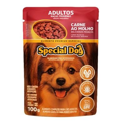 Sachê Special Dog para Cães Adultos de Raças Pequenas Carne 100gr