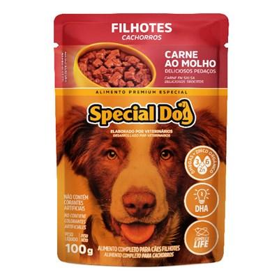 Sachê Special Dog para Cães Filhotes Carne 100gr
