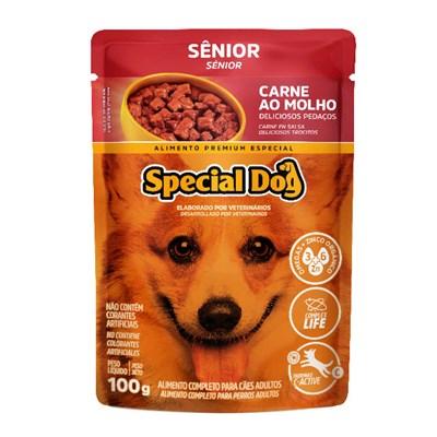 Sachê Special Dog parea Cães Sênior Carne 100gr