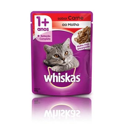 Sachê Whiskas para Gatos Adultos Carne 85gr