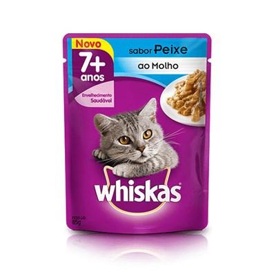 Sachê Whiskas para Gatos Adultos com mais de 7 Anos Peixe 85gr