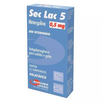 Sec Lac Interrupção da Lactação para Cães 16 comprimidos 5mg