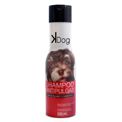 Shampoo Kdog Antipulgas para Cães e Gatos 500ml