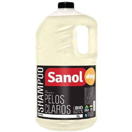 Shampoo Sanol Dog Pelos Claros para Cães e Gatos 5lt