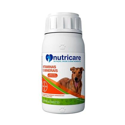 Suplemento Nutricare Vitaminas e Minerais para Cães com 60 Tabletes