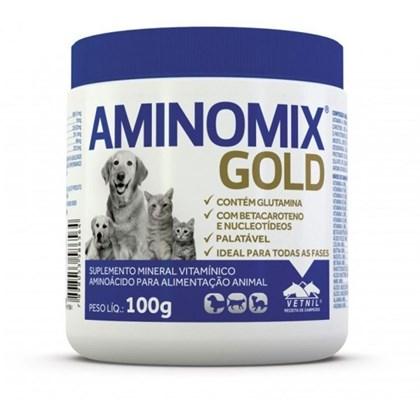Suplemento Vitamínico Aminomix Gold para Cães e Gatos 100g