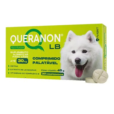 Suplemento Vitamínico Queranon LB para Cães com 30 Comprimidos