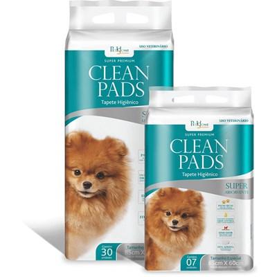 Tapete Higiênico Clean Pads para Cães 85cm x 60cm 30Un