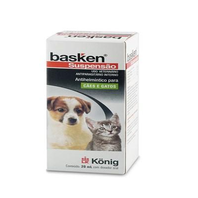Vermífugo Basken Suspensão para Cães e Gatos 20ml