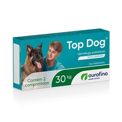 Vermífugo Top Dog para Cães 30kg