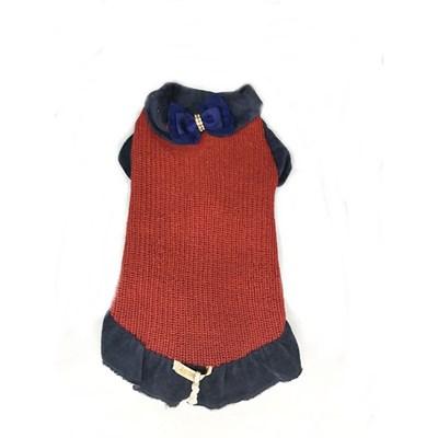 Vestido Tricot para Cães e Gatos Vermelho PP